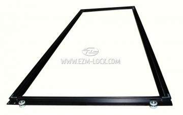 Рамка дверная правая с колесами алюминиевая (C10G)