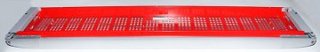 Решетка передняя холодильника iCool 1300 (в сборе, красная/серая)