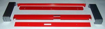 Рамка рекламного блока холодильника Activator 500 HC (в сборе, красная/серебристая)