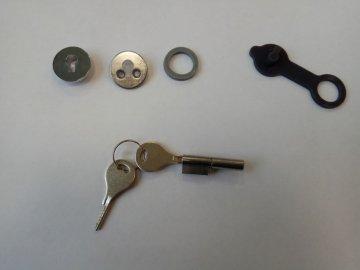 Замок ларя холодильника Caravell (в комплекте с ключами и заглушками)