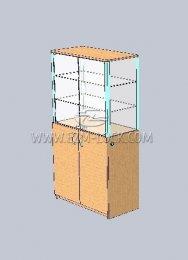 ЗАМОК для двустворчатой витрины с незапертым накопителем (тип 1)