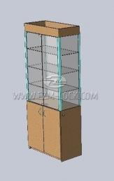 ЗАМОК для двустворчатой витрины с незапертым накопителем (тип 2)