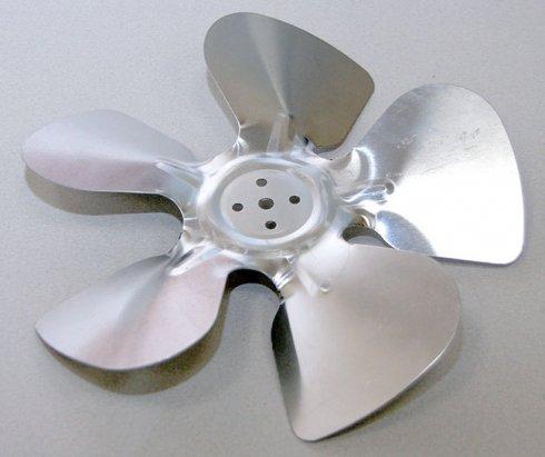 Крыльчатка вентилятора холодильника UBC, 230/28 (металлическая)