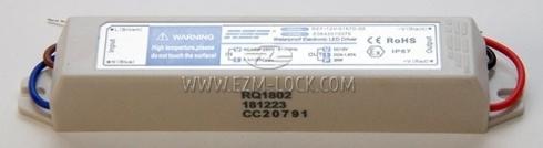 Блок питания светодиодного светильника холодильника MEDIUM, 12В, 20Вт