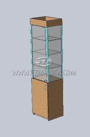 ЗАМОК для одностворчатой витрины с незапертым накопителем (тип 2)