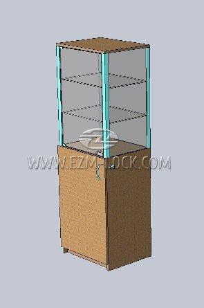 ЗАМОК для одностворчатой витрины с незапертым накопителем (тип 1)